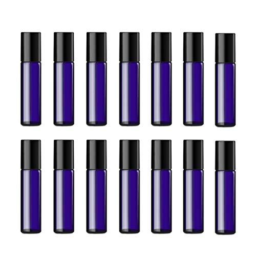 EXCEART 24 Pcs 5 Ml Roll On Bouteilles Rechargeable En Verre Bouteilles D'huile Essentielle Cosmétique Parfum Conteneur Distributeurs Voyage Conteneur