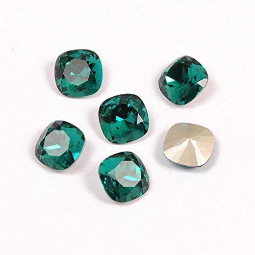 PENVEAT 4470 Corte de cojín Diamante Cristales Superiores Piedras de Diamantes de imitación de Costura al por Mayor Cuentas de Cristal Diamantes de imitación para Ropa, Circón Azul, con Garra