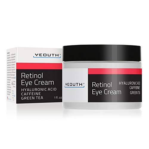 Retinol Augencreme 2,5{9f14cb27807d6ed6710d1e1cb0ddd2099798610895d2aa7f08540b7e41a64fee} von YEOUTH verstärkt mit Retinol, Hyaluronsäure, Koffein, Grüner Tee, Anti-Falten, Anti-Aging, straffe Haut, gleichmäßiger Hautton, feuchtigkeitsspendend und hydratisierend