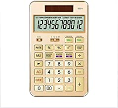 LYA Straight Calculator Business Office Desktop Solar Calculator 12-Bit Display Tax Rate Calculator for Finance, Learning,...