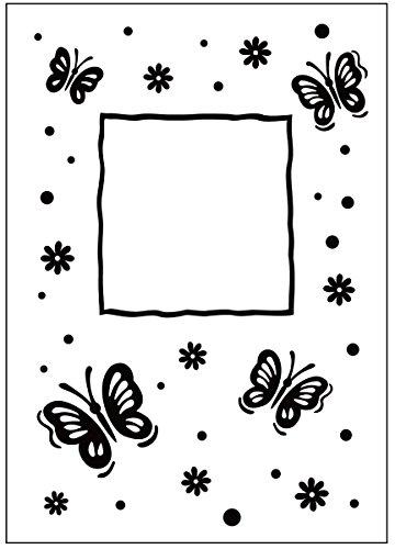 Darice Embossing Folder Cartella per Goffratura Mascherina Farfalla, 10.8x14.6x0.3 cm