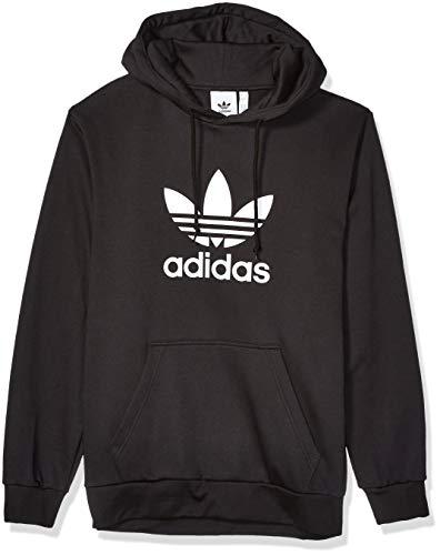 adidas Originals Men's Trefoil Fleece Hooded Sweatshirt, black, Large