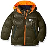 Helly Hansen Kids & Baby Frost Hooded Lightweight Puffy Down Jacket, 469 Forest Night, Size 6