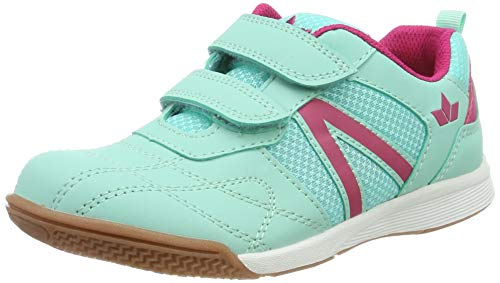 Lico First Indoor V Multisport Indoor Schuhe Mädchen, Türkis/ Pink, 33 EU