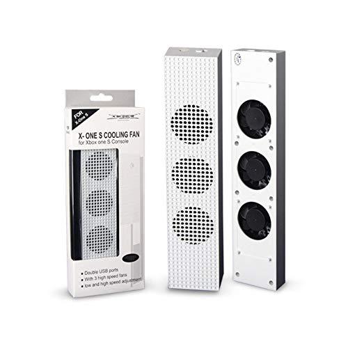 CVBN para Xbox One S Ventiladores de refrigeración de Ajuste Enfriador para Xbox One Slim Gaming Console, Blanco