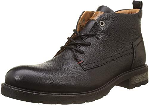 Tommy Hilfiger Męskie buty zimowe Shearling Lining Biker Boots, czarny Black, 45 EU