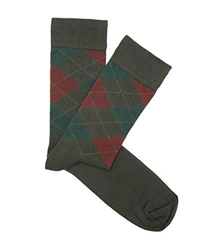 HOOK Calcetines Rombos Verde y Caldera - Hombre y Mujer - 100% Algodón - Hecho en España - 5018