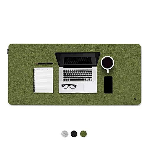 FORMGUT Schreibtischunterlage aus Filz 90 x 30 / Büro Unterlage aus Filz antirutsch, Unterlagen, Filzmatte, Filzunterlage, Unterlage Schreibtisch, Schreibtischauflage / Grün 90 cm x 30 cm