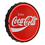 "Officially Licensed Coca Cola LED Neon Light Sign Wall Decor - Bottle Cap LED Neon Sign for Man Cave, Bar, Garage, Game Room – USB Powered (12.5"")"