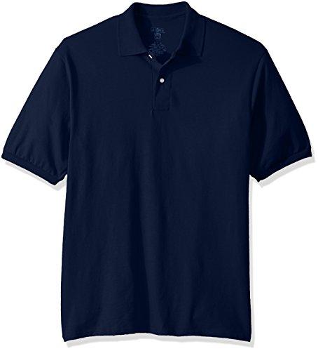 Jerzees Men's Spot Shield Short Sleeve Polo Sport Shirt, JNavy, 5X-Large
