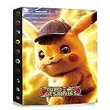 Archivador compatible con tarjetas Pokemon, carpeta de tarjetas, álbum compatible con las tarjetas Pokemon, cubierta de tarjeta para coleccionar, 24 páginas contiene 432 tarjetas (DKC-14).