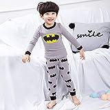EETYRSDe Manga Larga Ropa Interior de algodón de los niños del Pijama de Inicio Servicio niños Sistema del Muchacho del suéter del algodón Ropa de otoño Pantalones de otoño