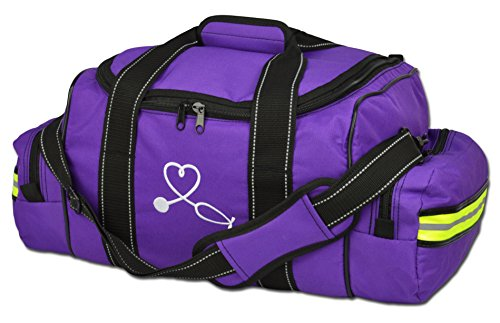 Lightning X Large EMT Medic First Responder EMS Trauma Jump Bag w/Dividers (Purple)