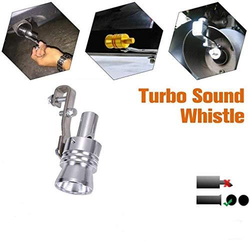 CHERITY Universal Aluminum Turbo Sound Exhaust Muffler, Auspuffendrohr-ausblasventil-Simulator, Auto-auspuff-schalldämpferrohr, Verbesserung des Autoklangs, Trendy-zubehör (XL)