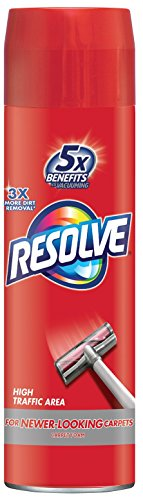 Resolve High Traffic Carpet Foam, 264 oz (12 Cans x 22 oz), Cleans Freshens Softens & Removes Stains