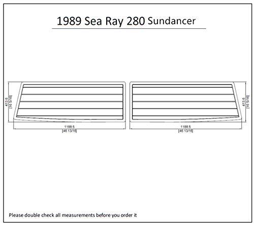 1989 Sea Ray 280 Sundancer Swim Platform Pad 1/4' 6mm Boat EVA Teak Decking (Medium Grey with Black Lines)