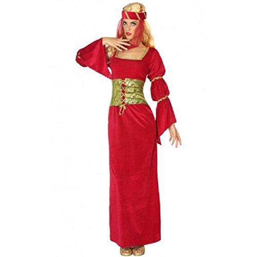 ATOSA disfraz dama medieval mujer adulto rojo XS