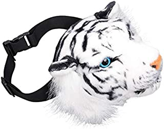 FIRECLUB Fashion 3D Animal Design Girls Crossbody Bag Tiger School Bags Women Creative Waist Pack Crossbody Shoulder Bags (White)