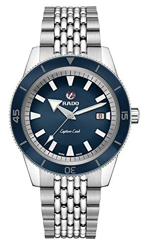 Rado Men's Captain Cook 42mm Steel Bracelet & Case Sapphire Crystal...