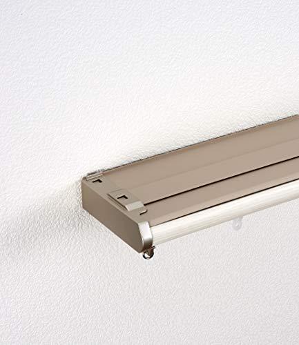 トーソー 遮光カーテンレール 1.6~3.0m ダブル 木目ホワイト 4975559810775 1セット トーソー