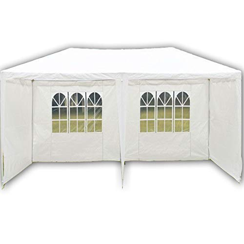 FiNeWaY 3M X 6M PARTY WEDDING TENT GAZEBO CAMPING MARQUEE CANOPY WHITE EVENT OUTDOOR BEACH Waterproof With Panels