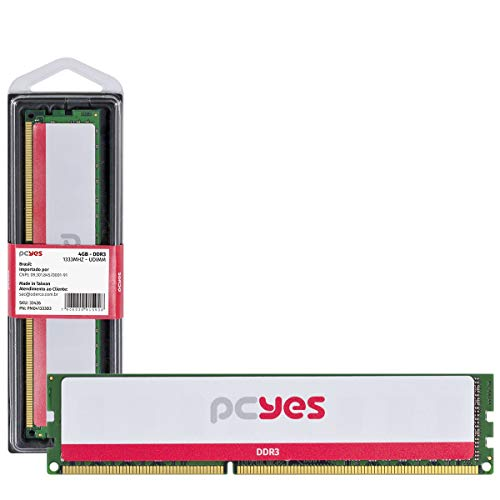 MEMÓRIA PCYES UDIMM 4GB DDR3 1333MHZ - PM041333D3 - PCYES