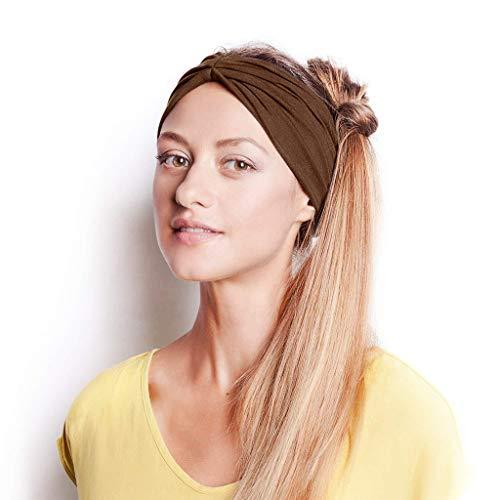 Yvelands Damen Mode Gestrickt Stirnband Stirnband Damen elastische Haarband Kopfband Weich Turban Stirnband für Alltag Yoga Sport Fitness