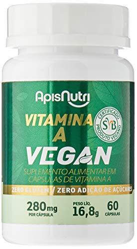 Vitamina A Vegan - 280mg (60 caps), Apisnutri