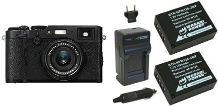 Fujifilm X100F 24.3 MP APS-C Digital Camera-Black & Wasabi Power Battery (2-Pack) and Charger for Fujifilm NP-W126 and Fuji FinePix HS30EXR, HS33EXR, HS50EXR, X-A1, X-E1, X-E2, X-M1, X-Pro1, X-T1