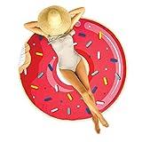 JET LAG VO1304 Toalla DE Playa, Donut Rose Et Multicolore, Estandar