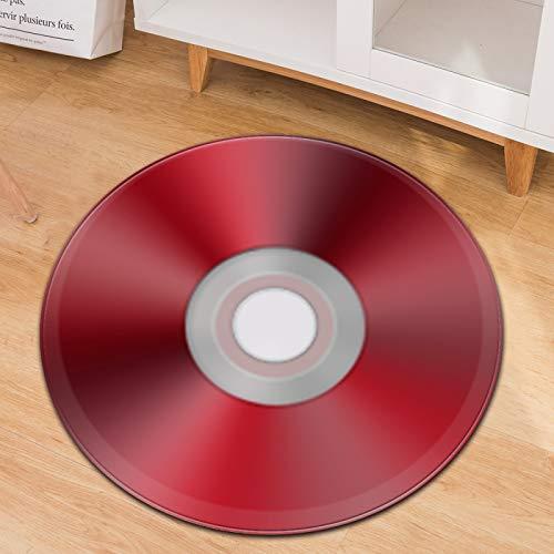 Alfombra Redonda De CD De Música Silla Giratoria para El Hogar Cojín para Silla De Computadora Manta para Silla De Oficina Felpudo Se Puede Lavar