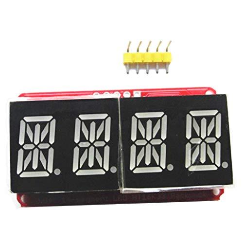0,56 inch 4-Stellig 14-segment LED Display Modul 12C für Arduino, 2 Zeilen Steuerung - Rotgrün