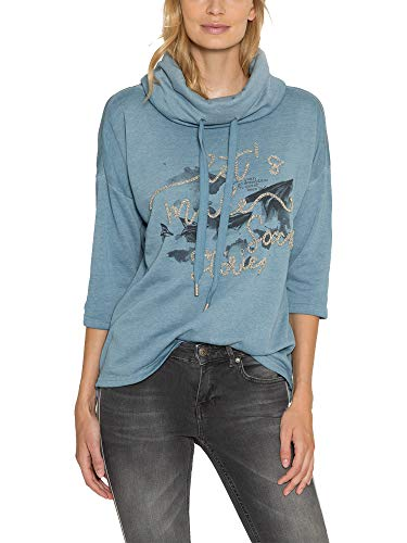 SOCCX Damen Sweatshirt mit hohem Kragen