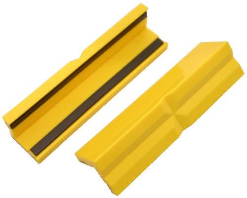 GSR Schraubstock-Schonbacken, 2-teilig, Schraubstock Backen, Kunststoff mit Magnet Spann-Backen, Schutzbacken für Maschinenschraubstock, Profi Werkstatt Zubehör (100 mm)