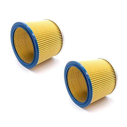 vhbw 2x Rundfilter/Lamellenfilter passend für Hecht 8212, 8314, 8314Z Staubsauger
