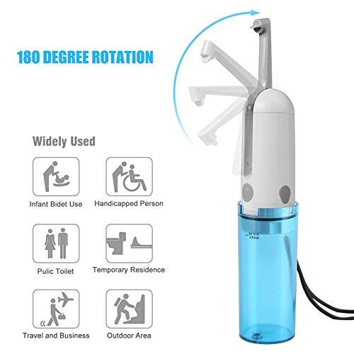 Neufday Portable Electric Handheld Bidets Kit,USB Charge Toilet Portable Sprayer Bathroom Handy Travel Bidet Kit (Blue)
