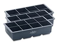 3er-Set: Eiswürfelform für 8 extra große Eiswürfel • Halten Ihre Getränke noch länger kalt 3er-Set: Eiswürfelform für 8 extra große Eiswürfel • 100% lebensmittelechtes Silikon Halten Ihre Getränke noch länger kalt • Spülmaschinengeeignet Schnelle Ent...