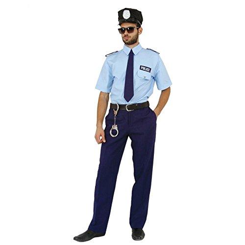 Mortino Kostüm Polizist Fred Polizei Uniform blau Fasching Polizeikostüme Berufe (XL)