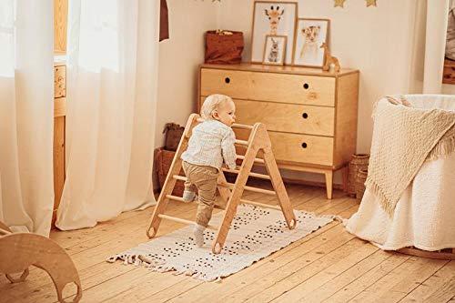 MAMI | Triangolo di Pikler Richiudibile |Struttura per Arrampicata per Bambini da Interno | Realizzato in Legno Naturale | 100% Made in Italy (TRIANGOLO DI PIKLER RICHIUDIBILE)