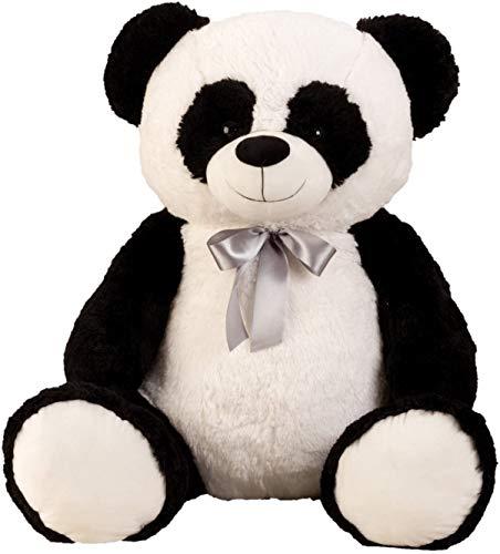 Lifestyle & More Panda géant XXL Cuddly 100 cm en Peluche Grand Animal en Peluche Panda veloutée -...