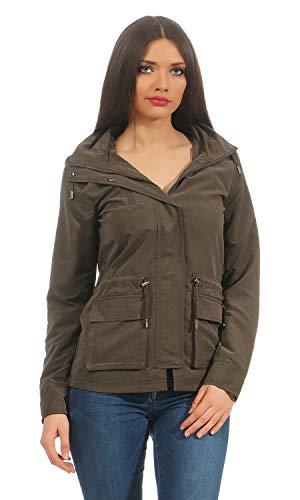 ONLY Damen onlSTARLIGHT Spring Jacket CC OTW Parka, Grün (Black Olive Black Olive), 36 (Herstellergröße: S)