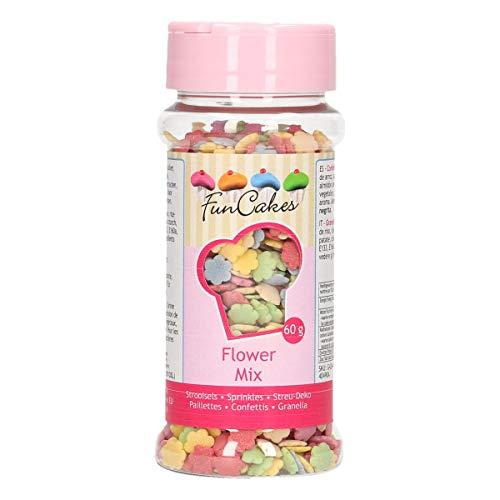 FunCakes Sprinkle para Repostería Flore Multicolores - 60 g