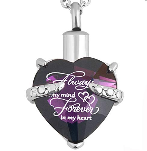 PREKIAR Heart Cremation Urn Necklace