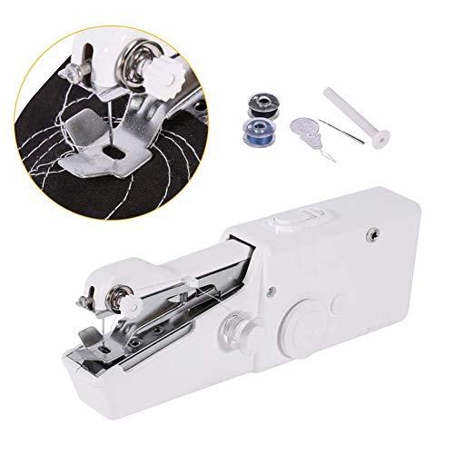 Haofy Máquina de Coser, Portátil Máquina de Coser Manual de Puntada de Costura Mini Portátil de Viaje