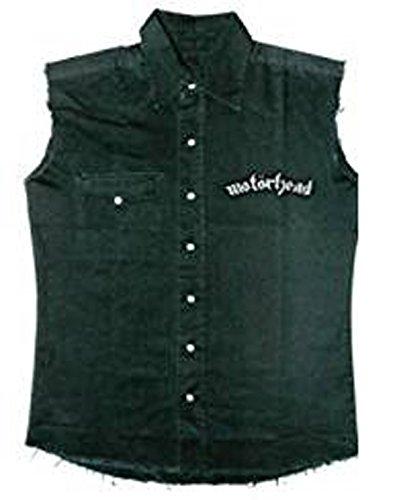 Motörhead Kutte - England (Black Denim Weste,Schwarz)Metalkutte,Motörhead Weste,Lizenzware !!! (XL(Extra Large))