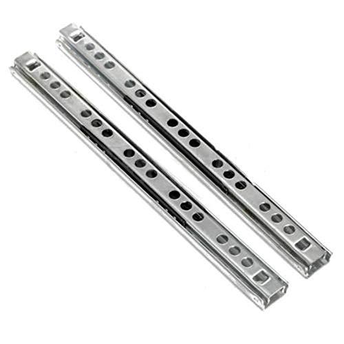 Tings 2-delig Meubelgeleider Rail Lade Schuif Garderobekast Ladekast, 16 inch