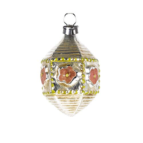 MAROLIN Miniature Glass Ornament Hexagon, rosé
