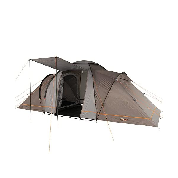 Portal Outdoor Beta 6 Spacious 2 Bedroom Tent With Storage Bag In Charcoal/Orange