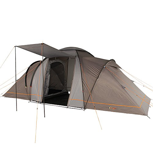 Portal Outdoor Unisex's Two Beta 6 Spacious 2 Bedroom Tent with Storage Bag in, Orange, One Size