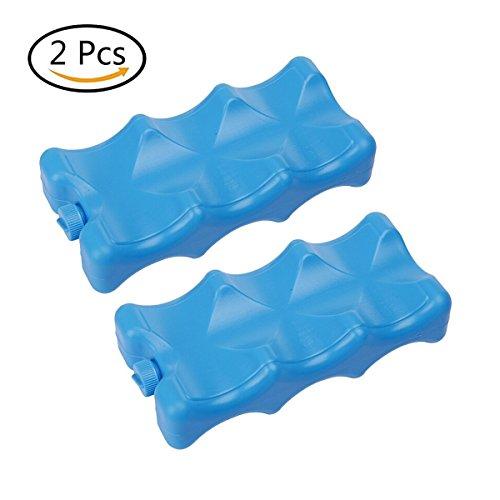 Relaxdays Lot de 2 petits pains de glace pour glacière 12h Batteries réutilisable Bleu